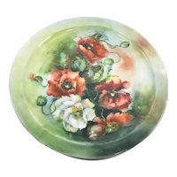 Limoges French Art Nouveau Tray Poppies