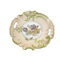 RS Prussia Art Nouveau Double Handle Plate