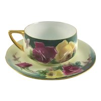 Rosenthal Donatello Cup & Saucer Red Yellow Roses