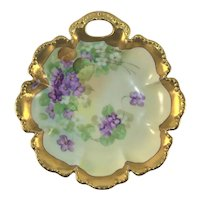 Pickard Haviland Limoges Candy Dish Heavy Gold
