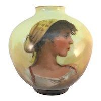Antique Miniature Portrait Vase