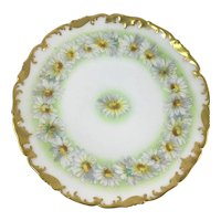 French Limoges Daisy Chain Plate