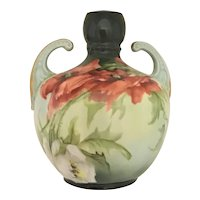 Limoges Double Handle Muscle Vase Esther Miler Poppies