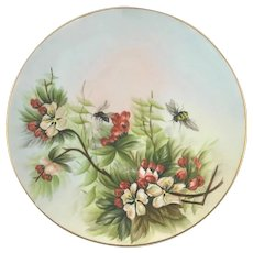 Fischer & Mieg Pirkenhammer Plate With Flowers and Bees