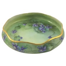 Limoges Pin Tray African Violets