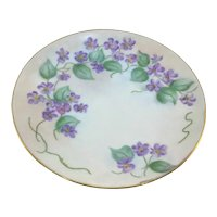 Austrian Purple Violets Plate Christmas Tree Mark