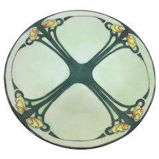 Limoges Art Nouveau Plate Water Lilies