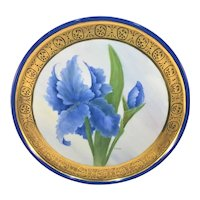 Limoges Iris Round Tray Heavy Gold