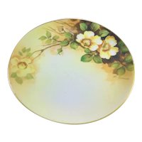 Nippon Yellow Roses Artist Signed Plate