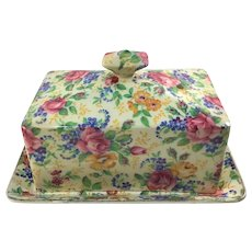 James Kent Rosalynde Chintz Covered Butter Dish