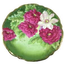 Bavaria Pink Peonies and White Clematis Plate