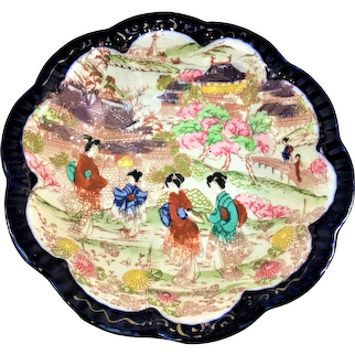 Torii Nippon Geishas Cobalt Bowl