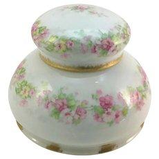 Limoges Ladies' Inkwell Pink Roses