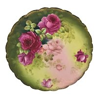 """Bavaria Red and Pink Roses 11 1/2"""" Charger"""