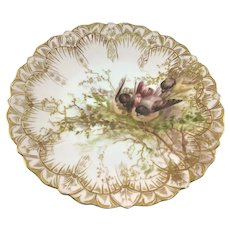 Limoges Three Nesting Birds Plate