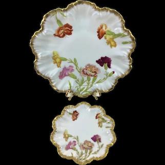 Limoges Carnations Plates