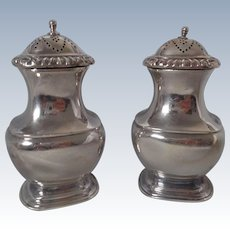 Ellis Barker Silver Plate Salt & Pepper Shakers