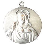 Sterling Silver Jesus Christ Catholic Religious Medallion