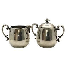 William Rogers Silver Plate Creamer & Sugar Bowl