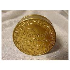 Vintage Florient Colgate face powder compact tin