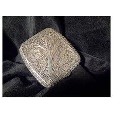 Original hand crafted Antique Silver Filigree Cigarette Case