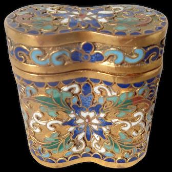 Vintage Cloisonne Enamel Vanity Box