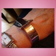 Vintage Silvertone Belt Buckle Clamper Bracelet