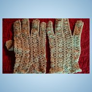 Ecru Hand Made Crocheted Vintage Gloves Made in France 2 Designs