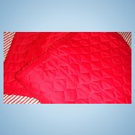 Vintage Machine Quilted Red Table Runner(s)
