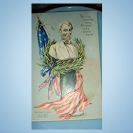 Raphael Tuck Embossed Decoration Day Postcard Abraham Lincoln Memorial Germany