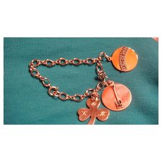 Advertising Charm Bracelet With 3 Sterling Silver Charms Life of Kentucky