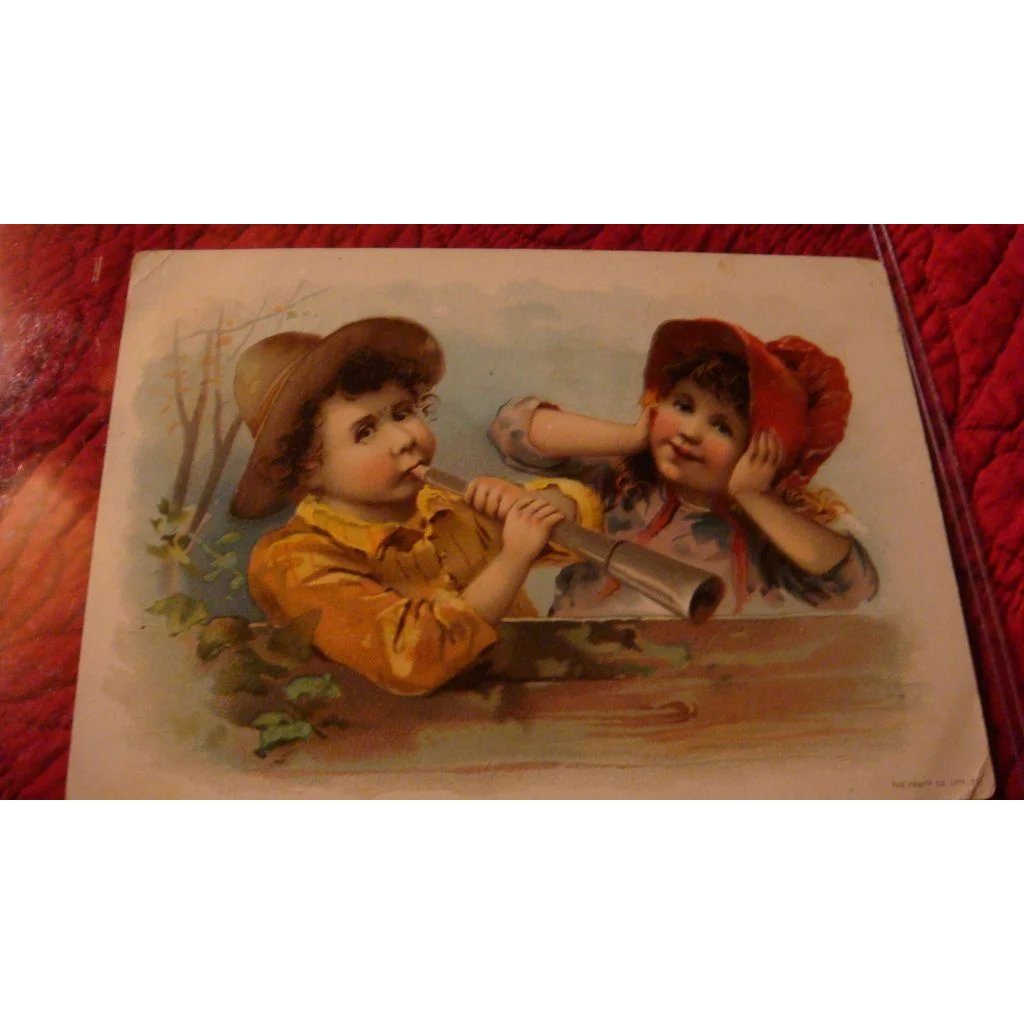 Oversized 1893 Advertising Greeting Card Lion Coffee Knapp Co
