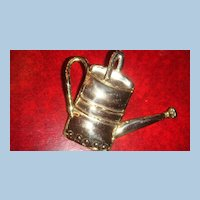 Mexico Mixed Metals Large Watering Can Brooch, Pin, Pendant