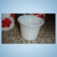 Fire King Candle Votive Creamy White or Light Ivory