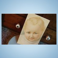 German American Novelty Arts Baby Postcard Adorable Blond!
