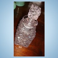 Lead Crystal Early Glass Perfume Bottle Star of David, Starburst, Daisy Button