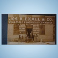 Jos. K. Exall & Co. Produce  Advertising City Matted Photo Card Paducah, KY Estate