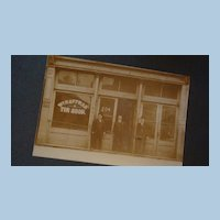 Paducah, KY Advertising Photograph Card Hoffman Tin Shop 3 Men Derby Hats