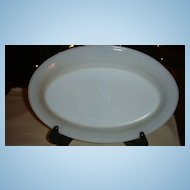 "Fire King White Restaurant Ware Small Platter 6 1/4"" x 9 1/2"" Excellent"
