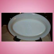 HTF Fire King White Restaurant Ware Small Platter