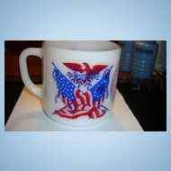Americana Mug Vivid Colors Spirit of 76, Flags, Eagle, Liberty Bell, Revolution Bicentennial