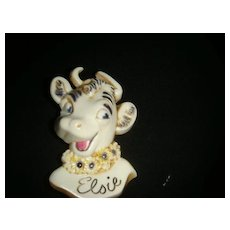 Borden's Elsie the Cow Celluloid Pin Advertising Brooch C Clasp