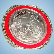1991 Troy Ounce Fine Silver Christmas Nativity Medallion Pendant