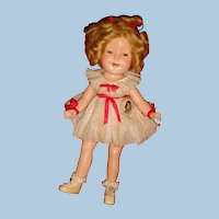 Original Clothes 1930's Shirley Temple Rare Size 11 Composition Doll Owner's Final Markdown