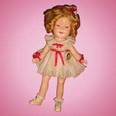 Original Clothes Shirley Temple Rare Size 11 Composition Doll 1930's No Crazing