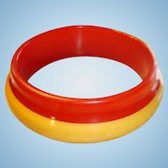 Orbit Style Bakelite Laminated Bracelet 2 Colors