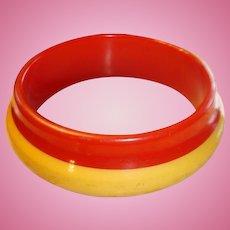 Orbit Style Bakelite Laminated Bracelet 2 Colors
