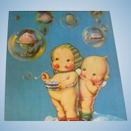 Pink Cheek Kewpie Dolls Postcards Bubbles of Ice Cream 1972 Dray's Collection
