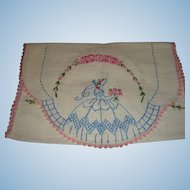 Southern Belle Vintage Table Runner or Piano Scarf Embroidery and Tatting