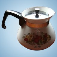 Vintage Corning Ware Spice of Life Teapot 6 Cup